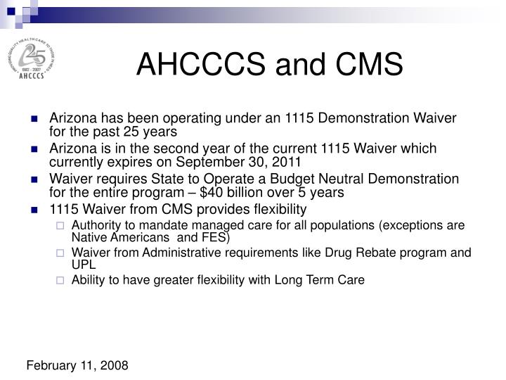 AHCCCS and CMS