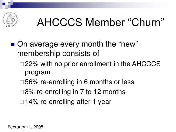 "AHCCCS Member ""Churn"""