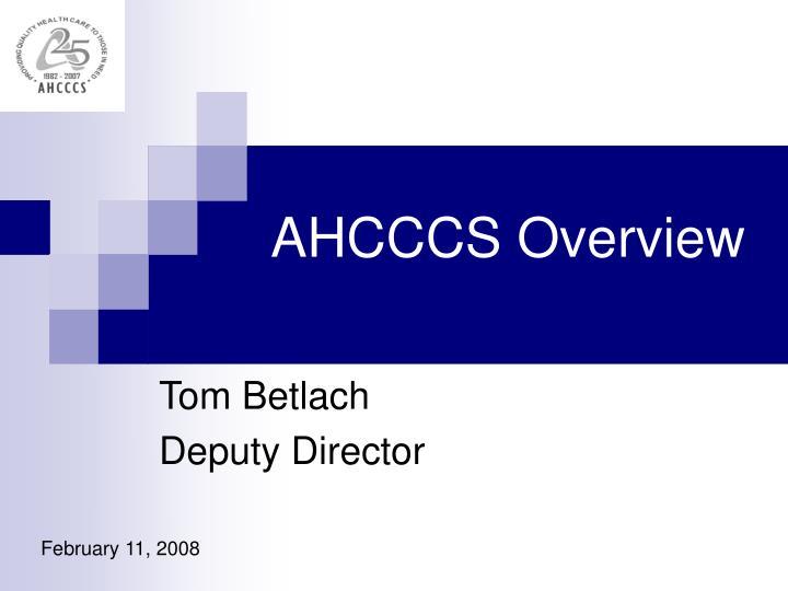 AHCCCS Overview