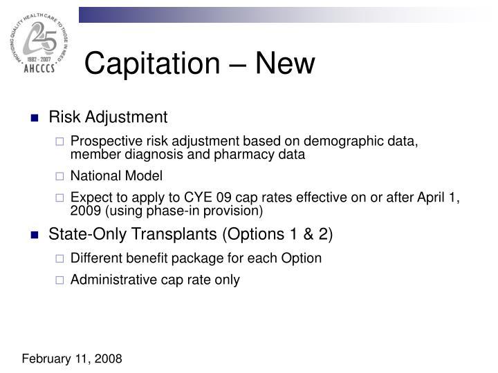 Capitation – New