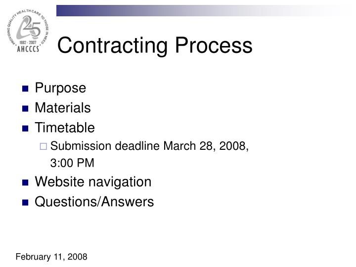 Contracting Process