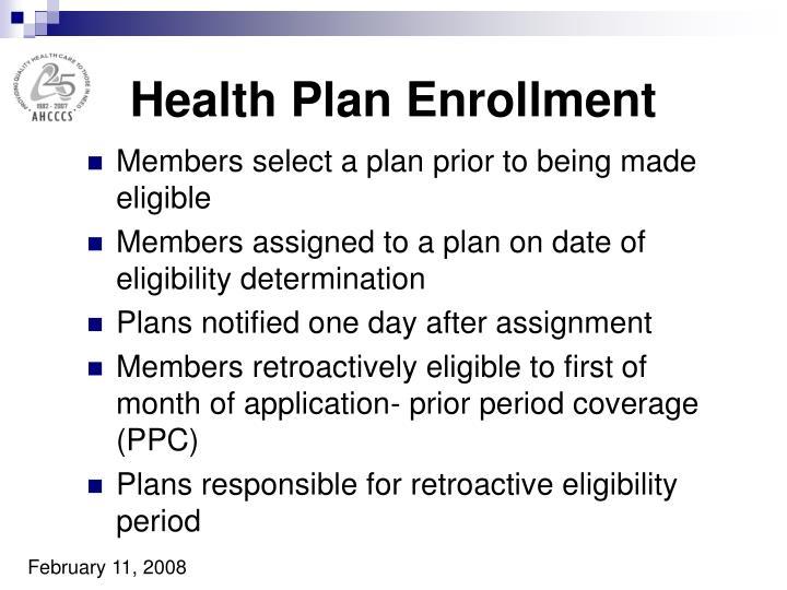 Health Plan Enrollment
