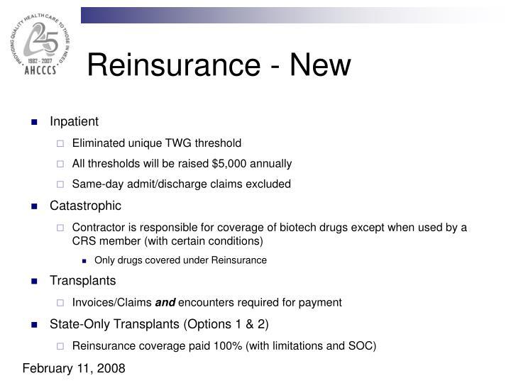 Reinsurance - New