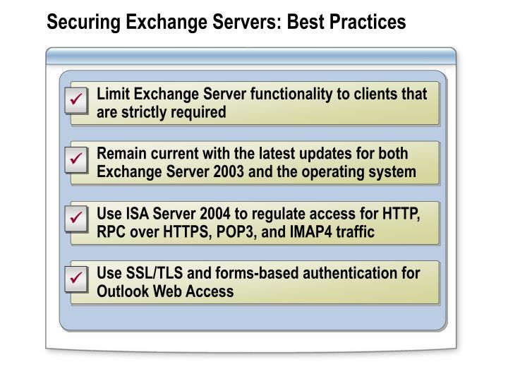 Securing Exchange Servers: Best Practices