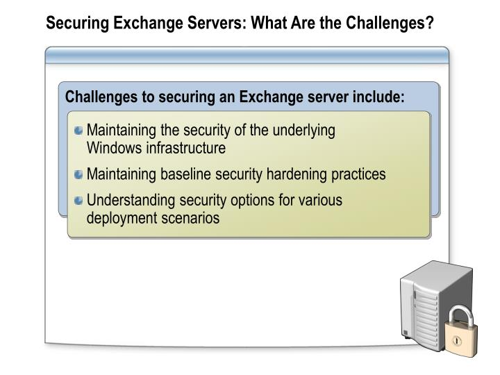 Securing Exchange Servers: What Are the Challenges?