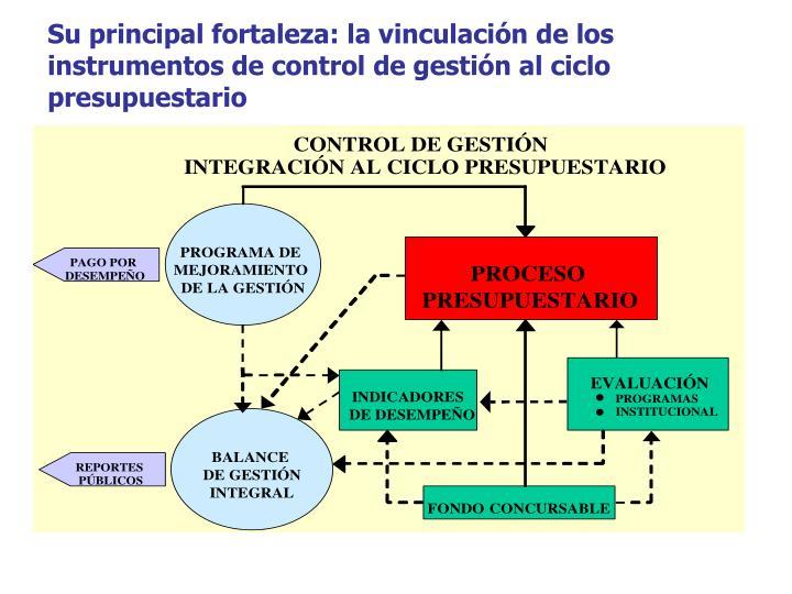Su principal fortaleza: la vinculación de los instrumentos de control de gestión al ciclo presupuestario