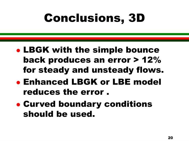 Conclusions, 3D