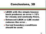 conclusions 3d
