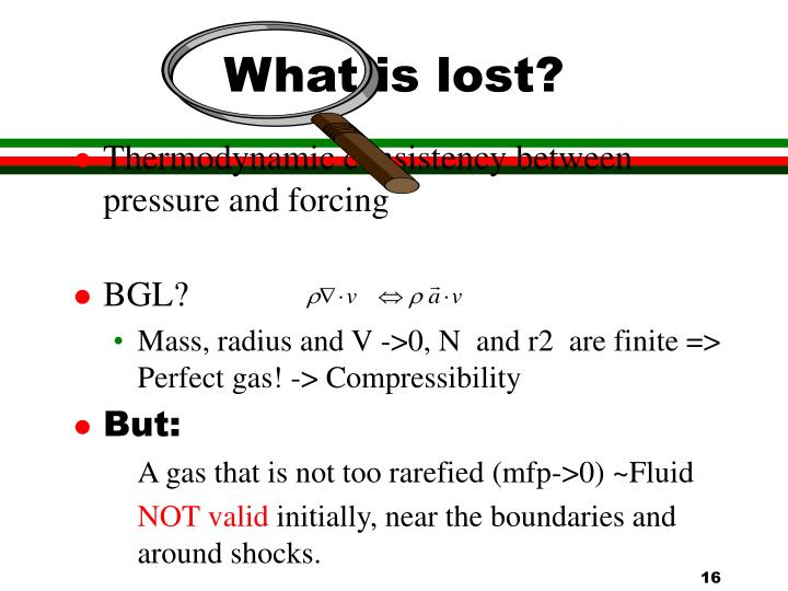 What is lost?