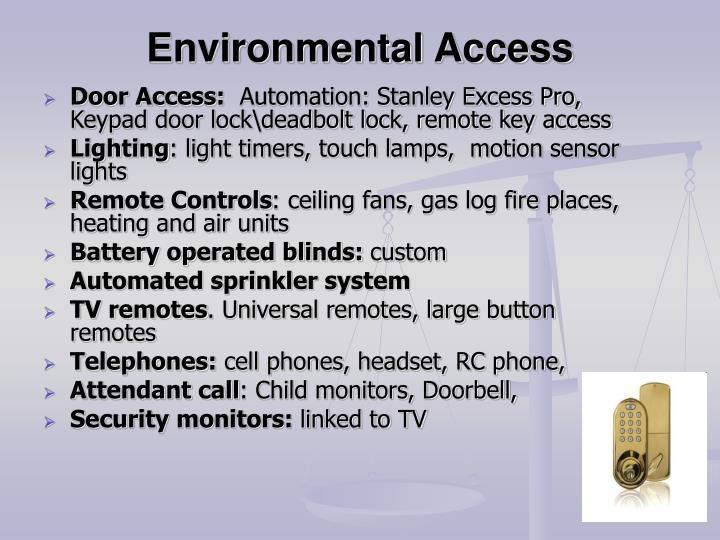 Environmental Access