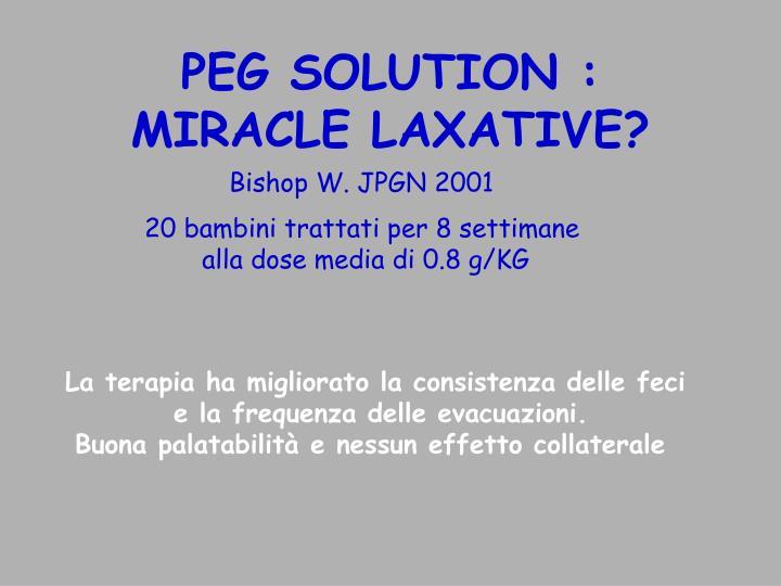 PEG SOLUTION :