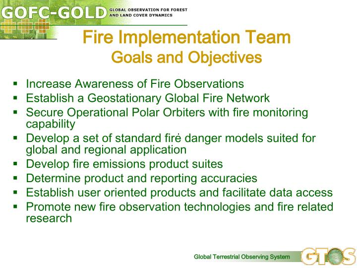 Fire Implementation Team