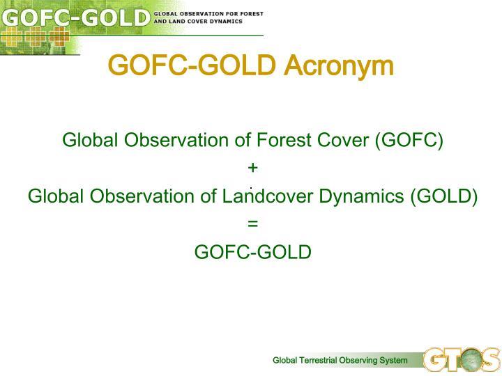 GOFC-GOLD Acronym