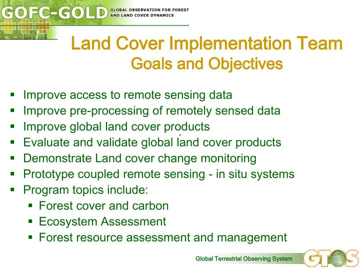 Land Cover Implementation Team