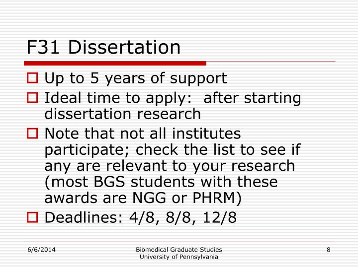F31 Dissertation
