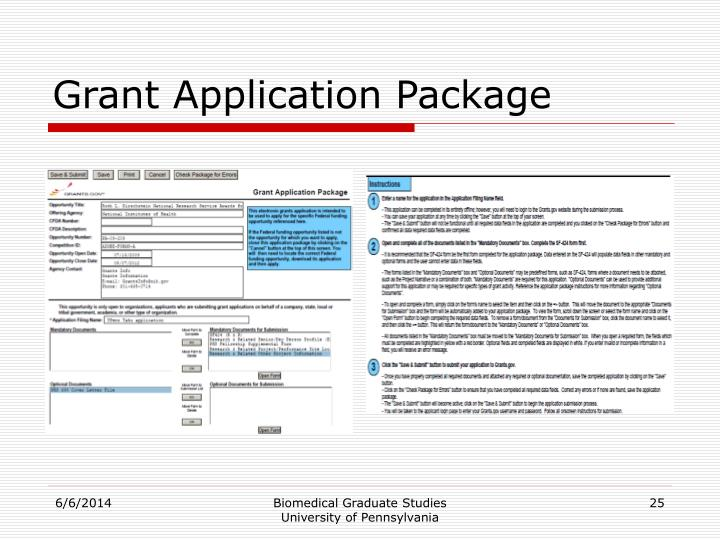 Grant Application Package