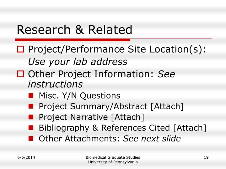 Research & Related