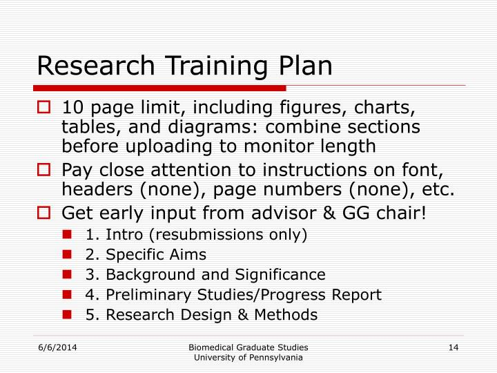 Research Training Plan