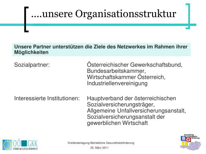 ....unsere Organisationsstruktur