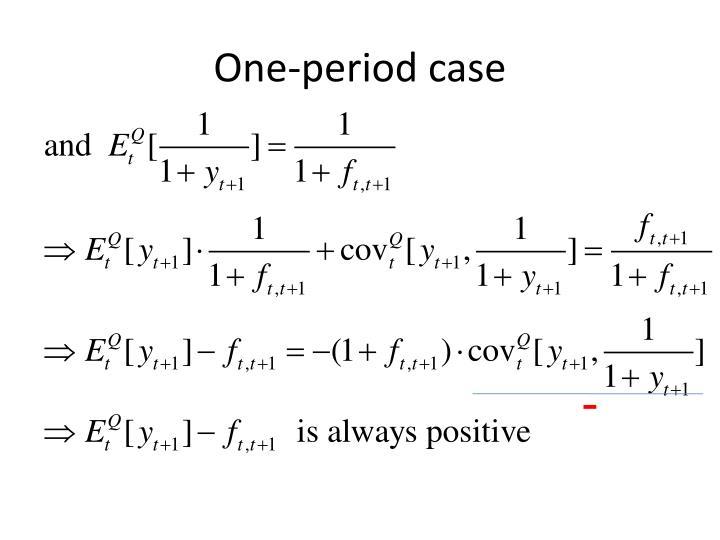 One-period case