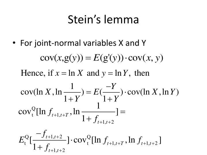 Stein's lemma