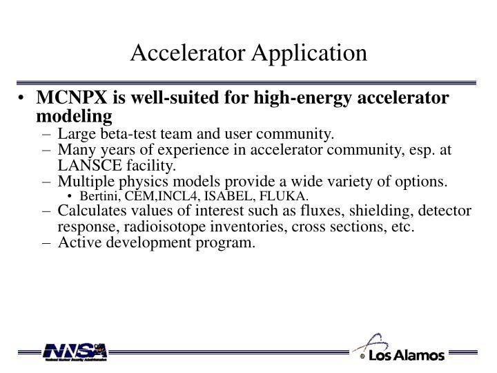 Accelerator Application