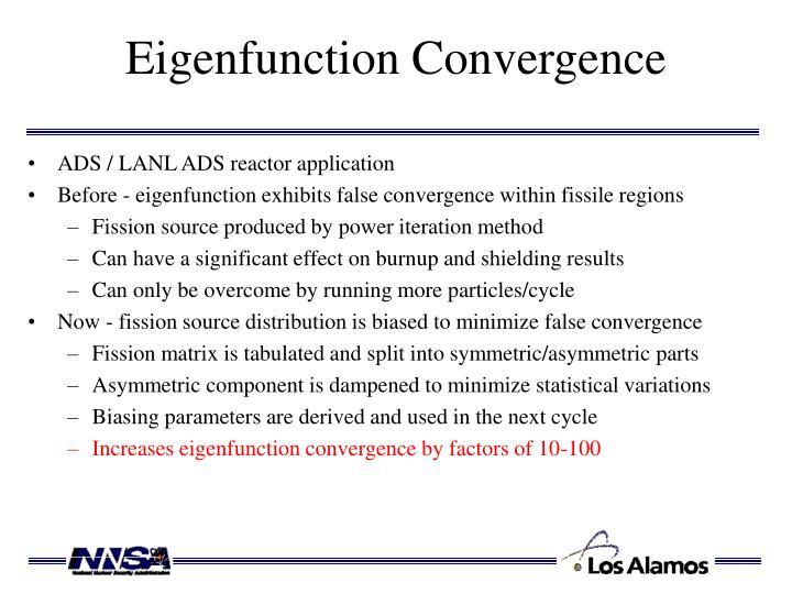 Eigenfunction Convergence