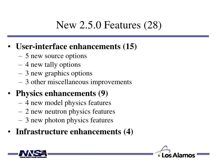 New 2.5.0 Features (28)