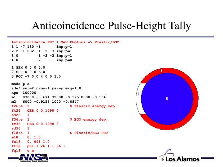 Anticoincidence Pulse-Height Tally