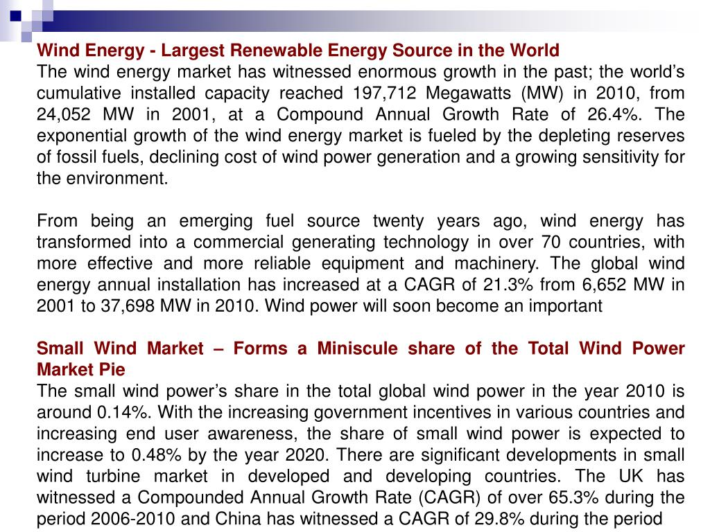 Wind Energy - Largest Renewable Energy Source in the World