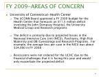 fy 2009 areas of concern3