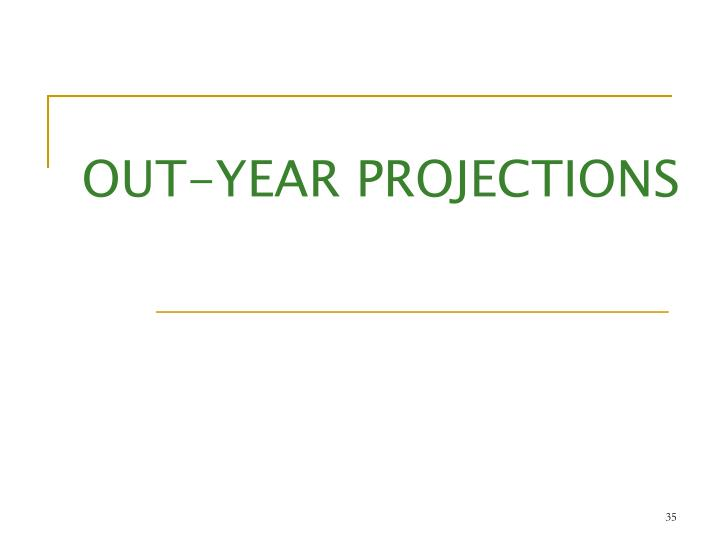 OUT-YEAR PROJECTIONS