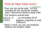 hints for near vision cont1