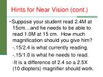 hints for near vision cont2
