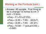 working w the formula cont4