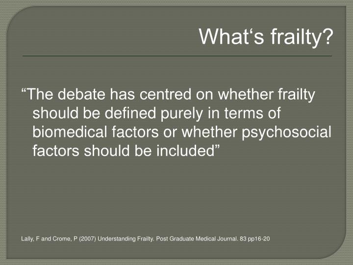 What's frailty?
