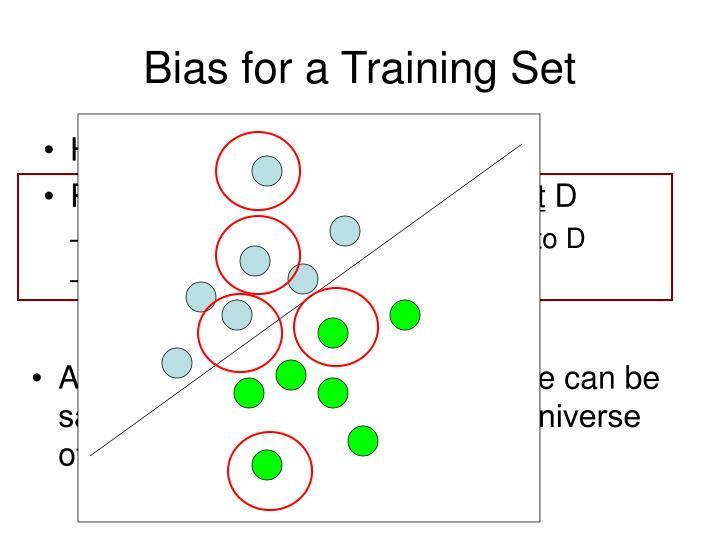 Bias for a Training Set