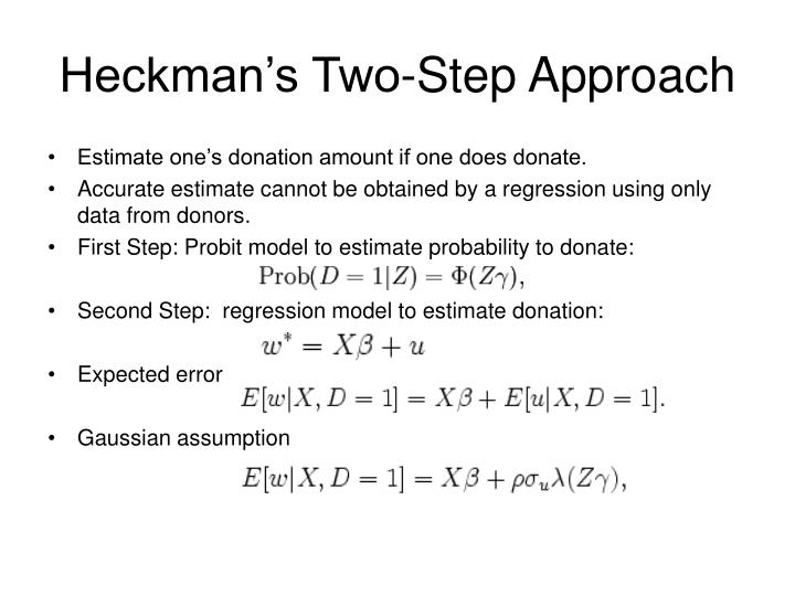 Heckman's Two-Step Approach
