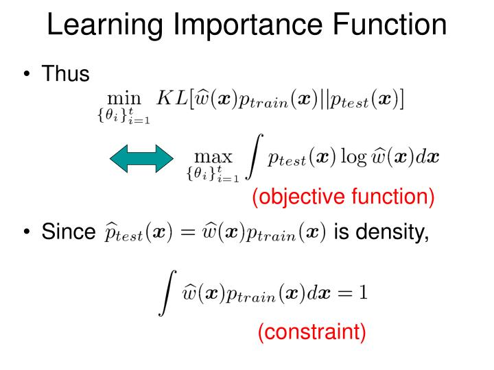 Learning Importance Function