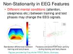 non stationarity in eeg features