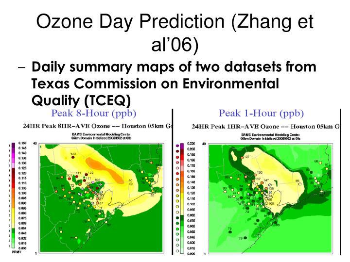 Ozone Day Prediction (Zhang et al'06)