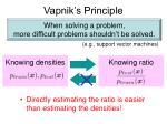 vapnik s principle