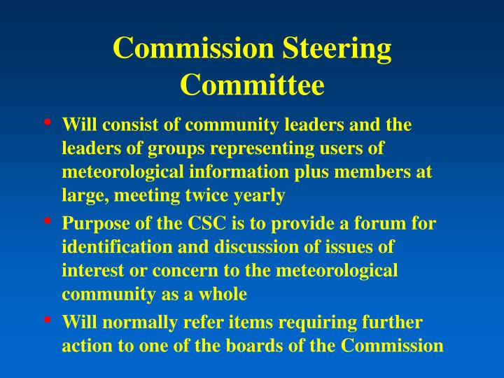 Commission Steering Committee