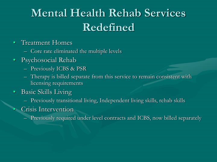 Mental Health Rehab Services Redefined