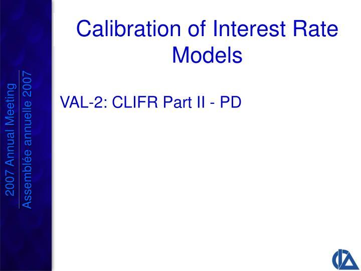VAL-2: CLIFR Part II - PD