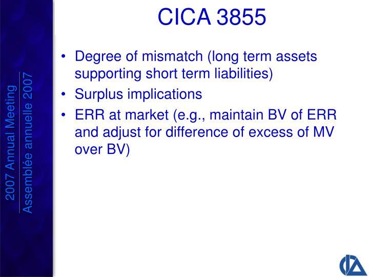 Degree of mismatch (long term assets supporting short term liabilities)