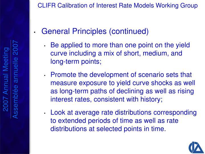 General Principles (continued)