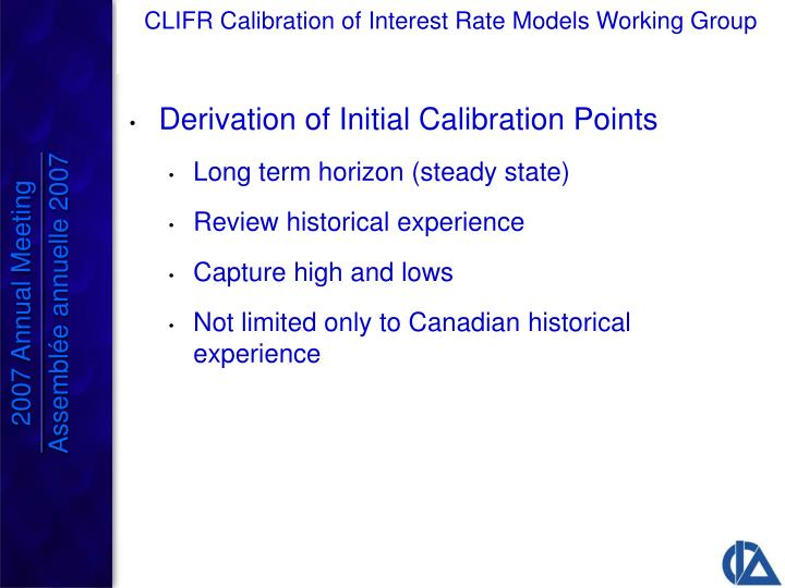 Derivation of Initial Calibration Points