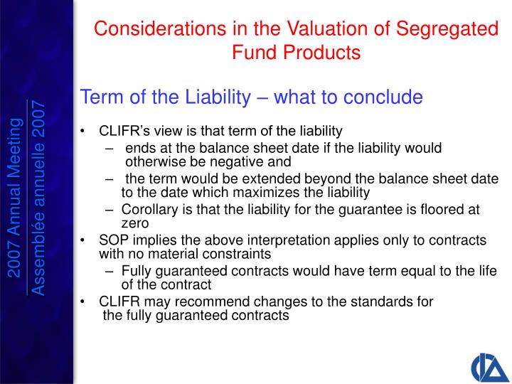 Term of the Liability – what to conclude