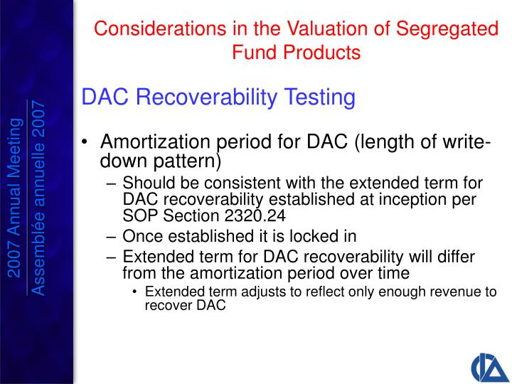DAC Recoverability Testing